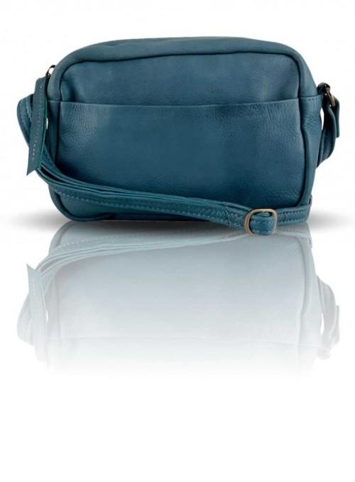 Lille petrol blå læder taske fra Black Colour