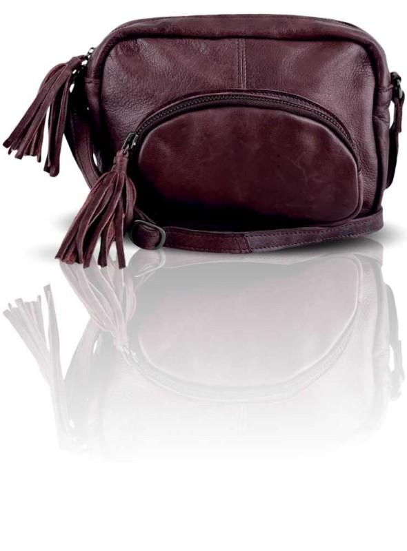 Læder taske fra Black Colour Augergine
