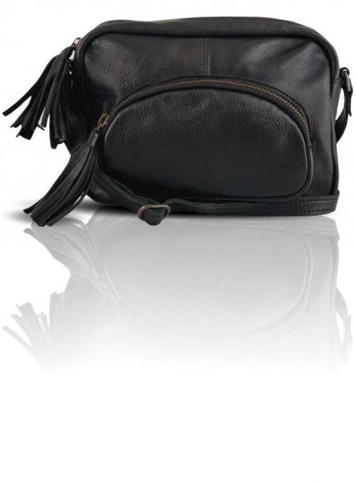 Læder taske fra Black Colour Sort
