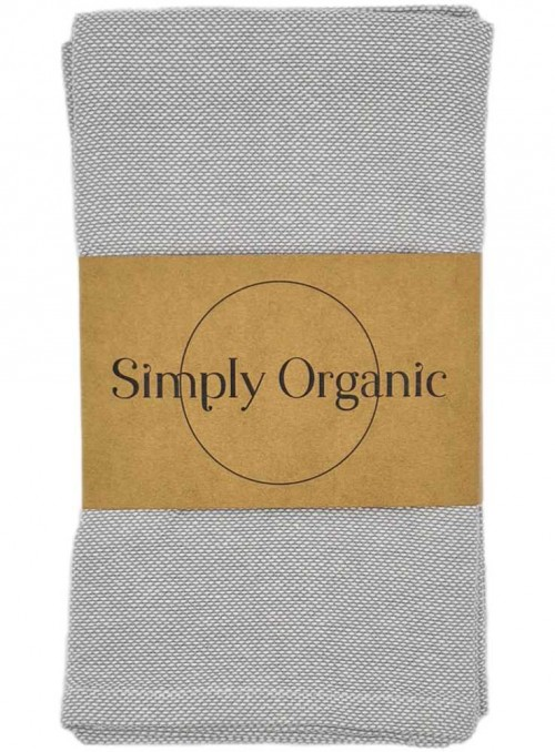 2 pak økologiske viskestykker bomuld Oxford Rock Grey fra Simply Living