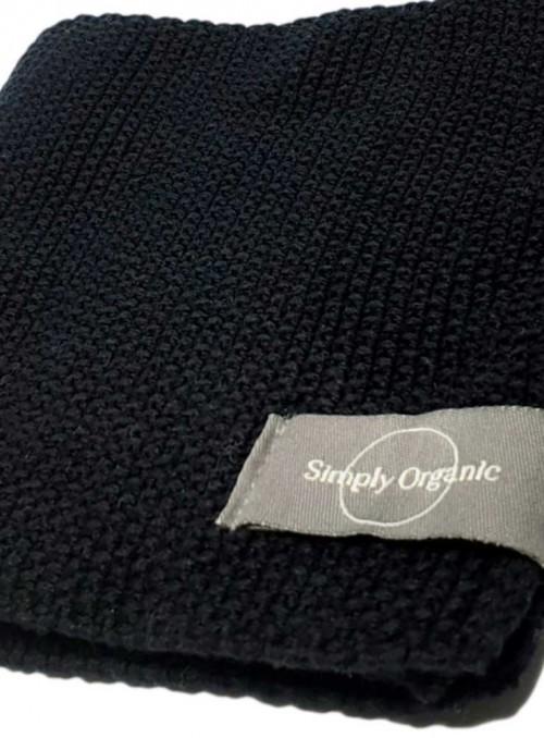 3 pak økologiske karklude bomuld Dish Cloth Black fra Simply Living