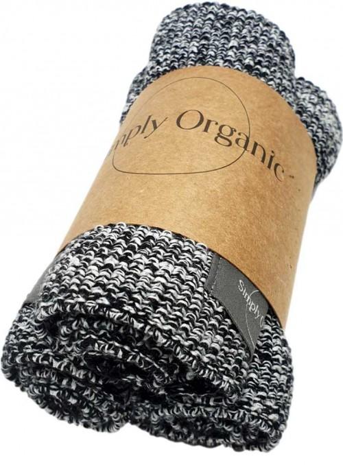 3 pak økologiske karklude bomuld Dishcloth Melange fra Simply Living