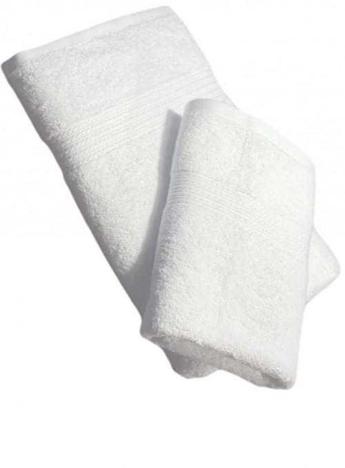 Bambus badehåndklæde hvid 140 x 70