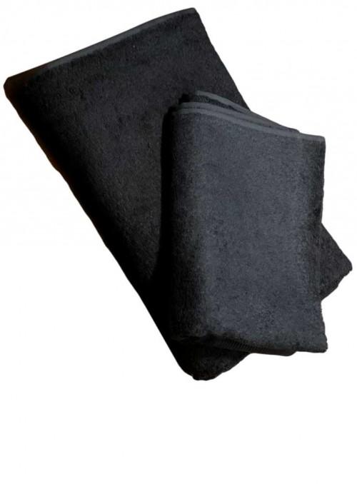 Bambus badehåndklæde sort