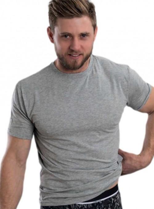 Bambus basis T-shirt herre, gråmelange