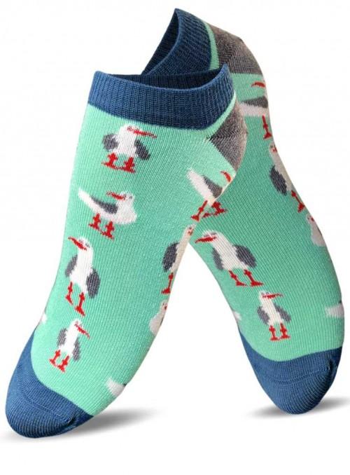 Bambus sneakers strømper dame med økologisk bomuld, Green Seagull fra Doris & Dude