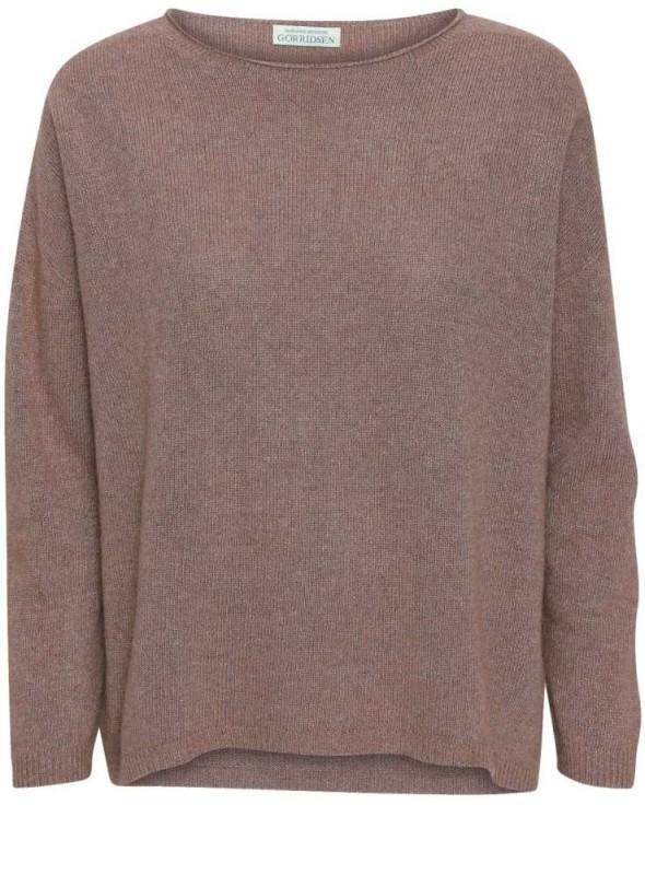 Strik sweater Leda Camel fra Gorridsen Design