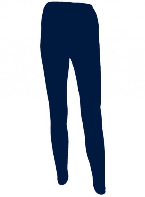 Bambus leggings str. S-4XL mørkeblå tights fra Festival