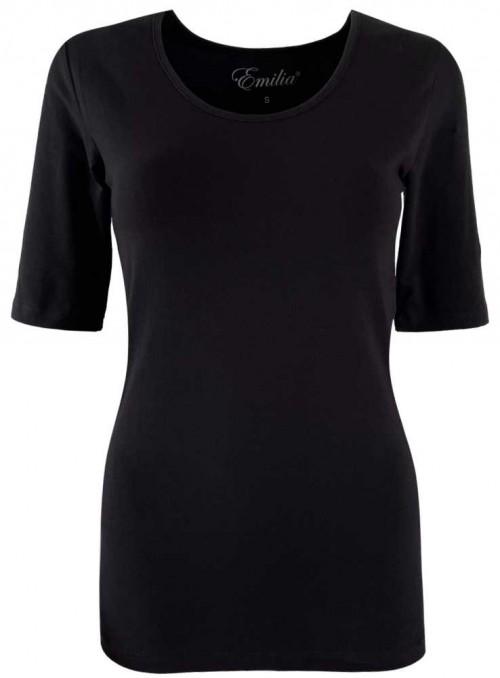 Basis T-shirt af bomuld sort