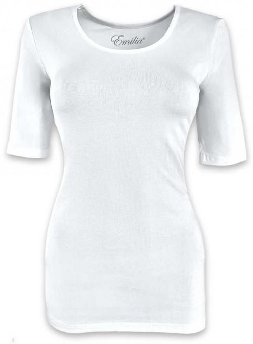 Basis T-shirt af bomuld