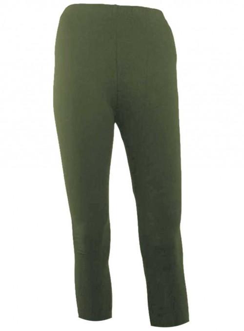 Bambus 3/4 leggings str. XL-4XL army tights fra Festival