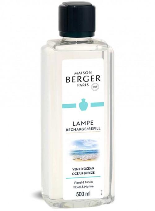 500 ml. Refill mild duft Ocean Breeze luftrensende olie til Maison Berger luftrenser lampe
