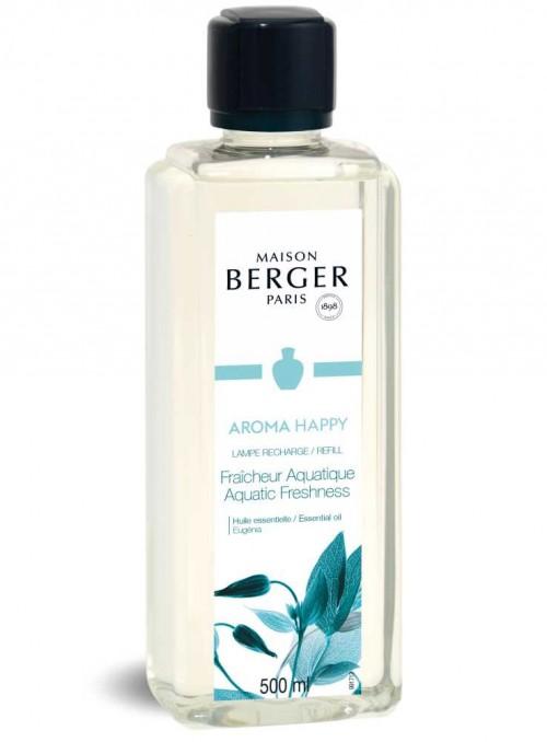 500 ml. Refill Aromaterapi HAPPY luftrensende olie til Maison Berger luftrenser lampe