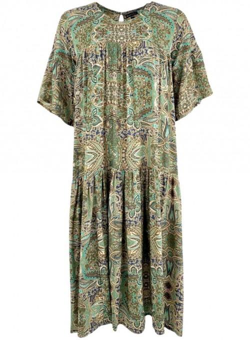 Kjole af sari-stof Luna Lex fra Black Colour
