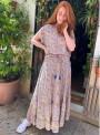 Top Luna Blouse af sari-stof Pastel fra Black Colour