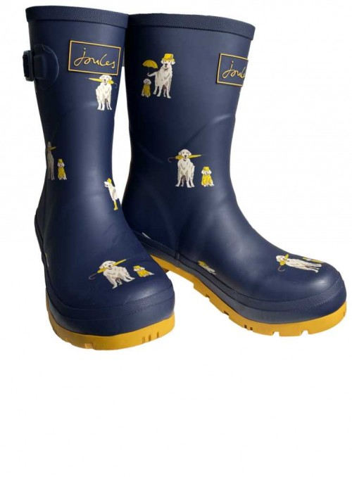 Gummistøvler Molly Welly Rain Dogs fra Joules