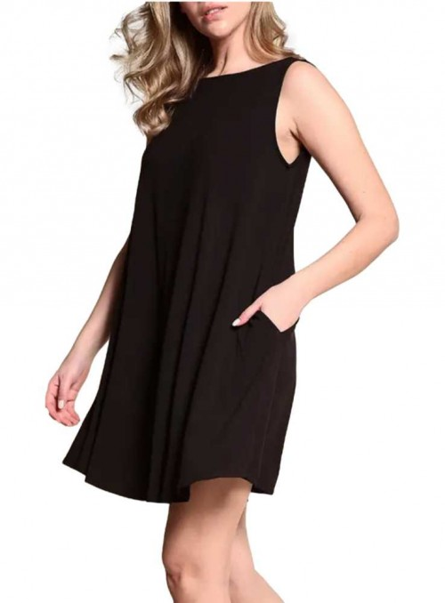 Bambus kjole Hepburn Black