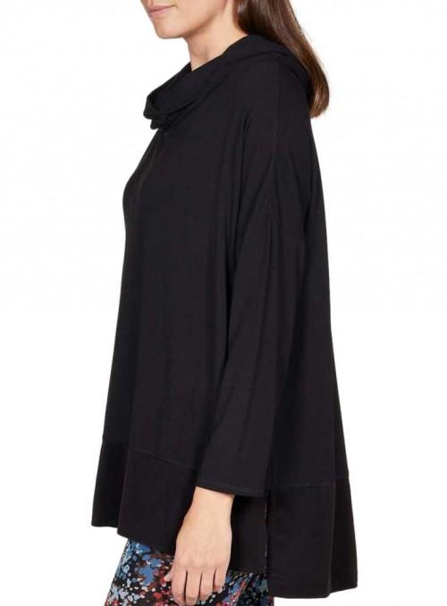Bambus tunika-bluse oversize sort Candice fra Thought