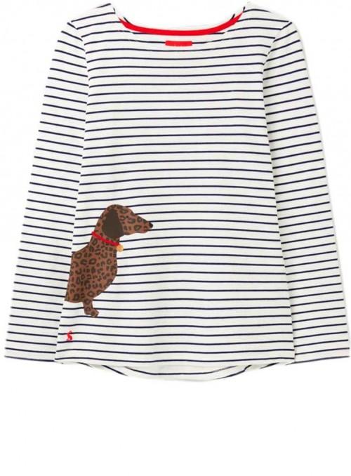 Jersey bluse sweatshirt med gravhund Harbour fra Joules