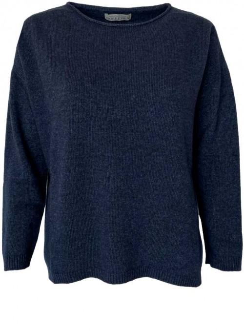 Strik sweater Leda fra Gorridsen Design farve Indigo
