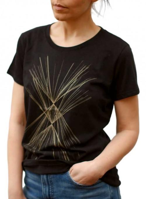 Bambus T-shirt med print Gold fra Blackbird Supply