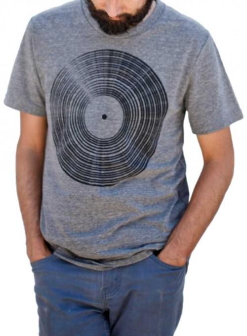 Bambus T-shirt herre med print Venyl LP fra Blackbird Supply