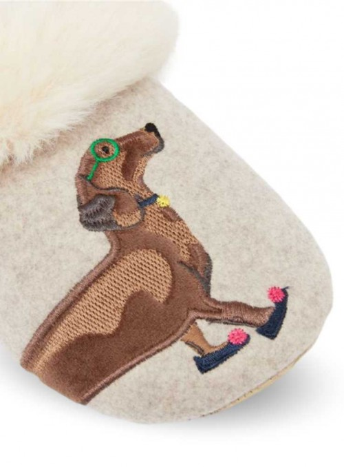 Hjemmesko fluffy slippers Slippet Luxe Dachshund